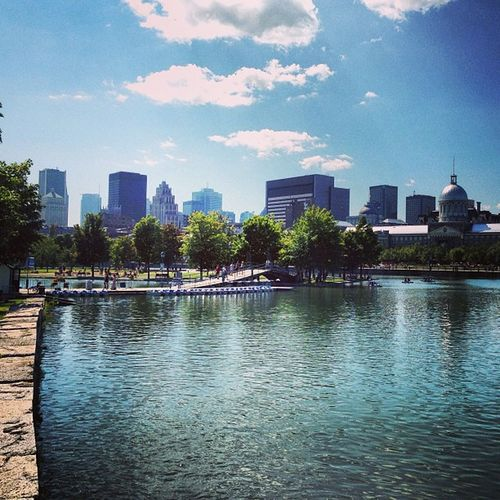 Montréal Skyline a (beautiful) Summer view from the old port! Quebec Canada Enjoy Travelling