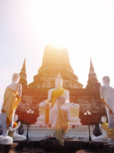 Ayutthaya | Thailand Religion Travel Destinations Ancient History Statue Place Of Worship Old Ruin Clear Sky Tourism Architecture Outdoors Gold Gold Colored Buddhist EyeEm Best Shots Buddhism Thailand Ancient Civilization No People Sky Day
