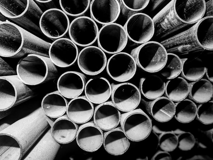 Full frame shot of pipes in industry