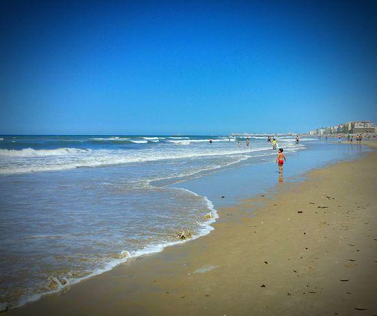 Holiday Andalucia Spain Andalucía SPAIN Boy Relax Water Sea Mar Atlantic Ocean Cadiz Vacaciones Big Beach Sand Sea And Sky Seaside Playa Boy Playing Boy Playing In The Beach Waves Waves, Ocean, Nature