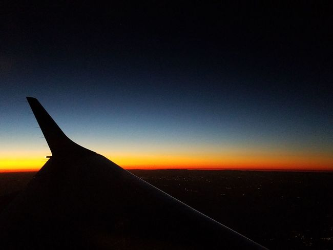 Sunset Aircraft Wing Winglets Sky Flight ✈ By John