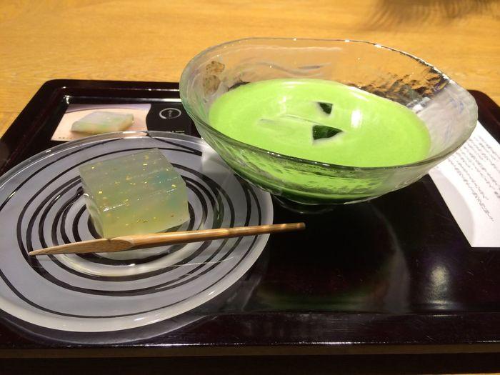 京都茶寮 京都 冷抹茶と和菓子