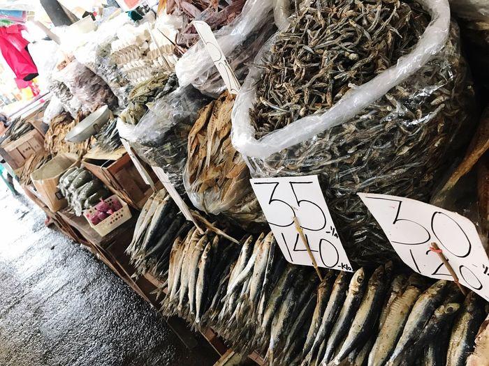 Wetmarket Fish Driedfish MarketChoice No People Close-up Indoors  Day