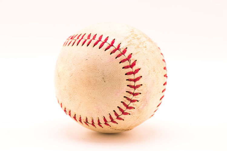 Close-up of ball on white background