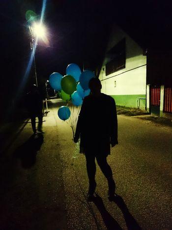 Balloons Dark Street
