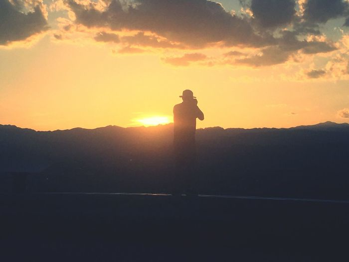 Sunset taking