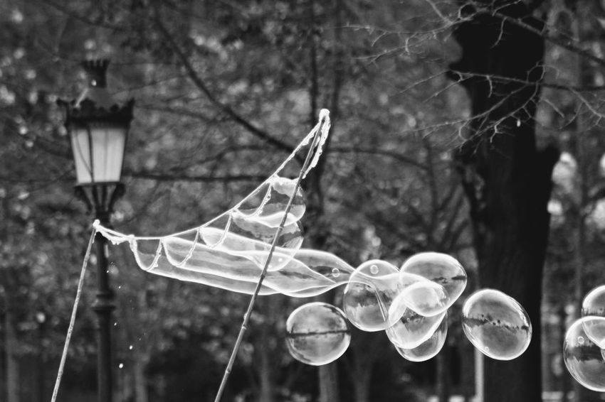 Bnw_friday_eyeemchallenge In Motion Boubles Shades Of Gray Fragility Outdoors Focus On Foreground Street Light The Motion