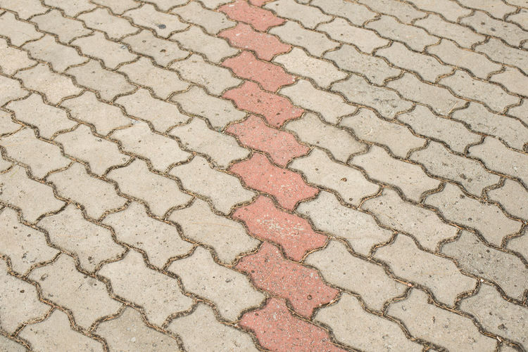 Bricks pattern for background. Pattern Full Frame Backgrounds Textured  No People High Angle View Day Outdoors Footpath Close-up Repetition Street Flooring Nature Brown City Wall - Building Feature Design Paving Stone Beige