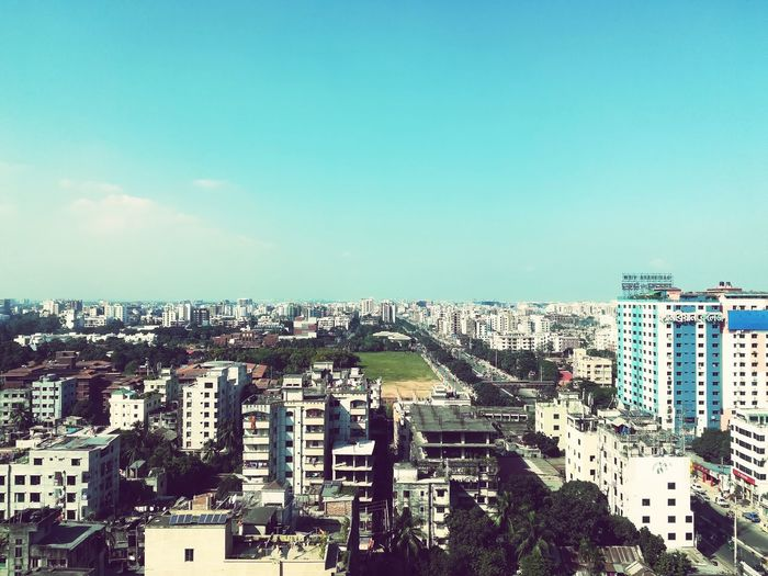 Dhaka City City Cityscape Aerial View Sky Building Exterior Architecture Cloud - Sky