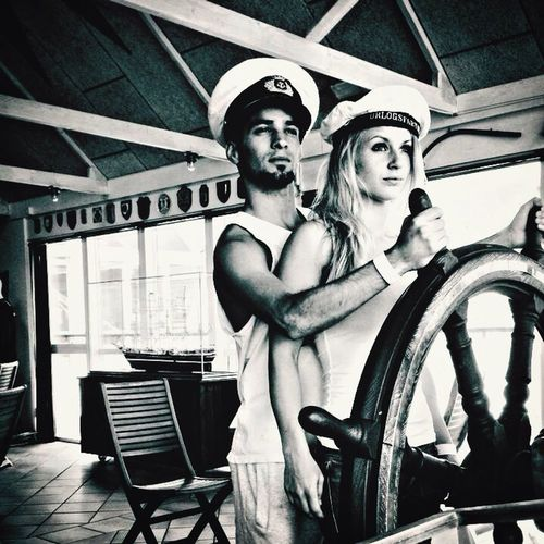 The couple Sailer Funny Black & White