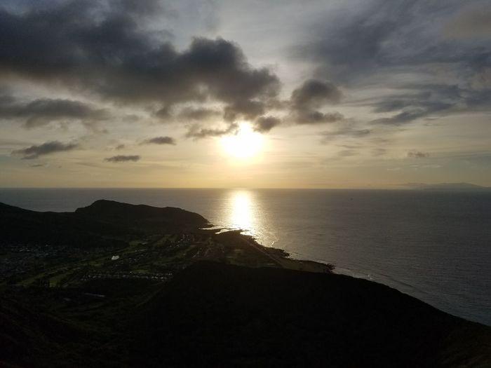 Koko Head Hike Stairs Hawaii Hike Mountain Ocean View Island Sunrise Clouds And Sky Oahu