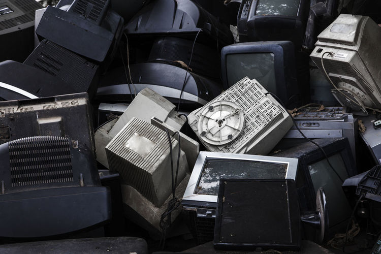 Full Frame Of Obsolete Television Sets