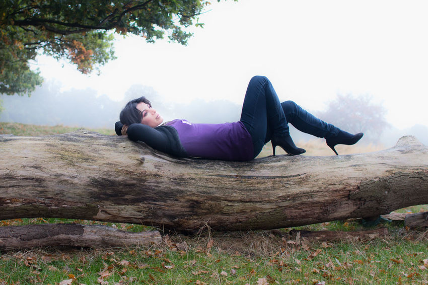 letting the troubles drift away Adult Autumn Autumn Mist Autumn Portrait Day Full Length Healthy Lifestyle Lifestyles Lying Down One Person One Woman Only Outdoors People Portrait Portrait Of A Woman Pretty Girl Pretty Woman Relaxation Relaxing In Autumn Streamzoofamily Wellbeing Woman Lying On Tree