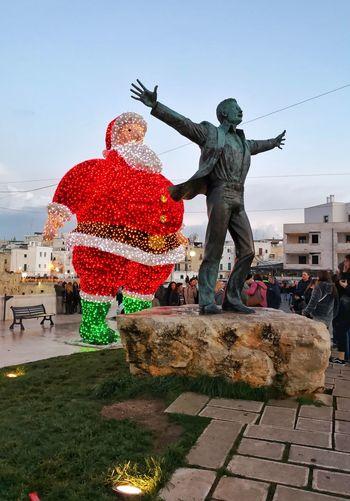 Christmas Decoration Chrism City Cityscape Water Full Length Men Headwear Sky