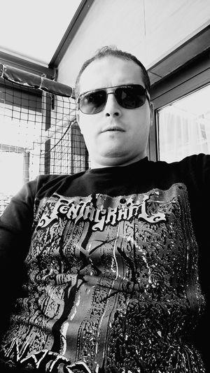 Blackandwhite Photography Metalhead Metalmusic HeadBanger Heavymetal Pentagram Trashmetal That's Me