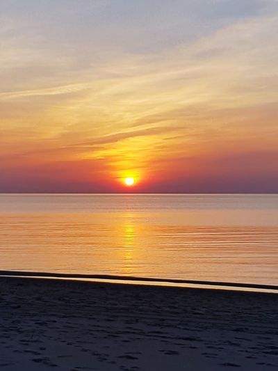 Sanset The San Rampage  Water Sea Sunset Beach Horizon Low Tide Summer Romantic Sky