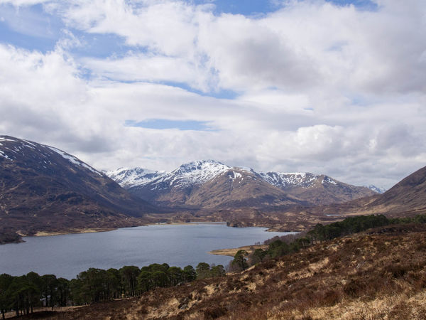 Glen Affric Loch Affric Scotland Walk Beauty In Nature Cloud - Sky Clouds And Sky Day Environment Height Lake Landscape Mountain Mountain Peak Mountain Range Mountains Nature No People Outdoors Scenery Scenics - Nature Sky Snow Covered Water Wilderness