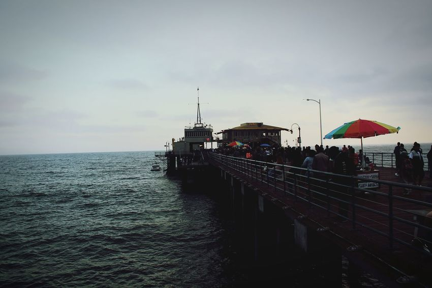 Santa Monica Pier Beach Sea Water Horizon Over Water Live For The Story Place Of Heart The Great Outdoors - 2017 EyeEm Awards Let's Go. Together.