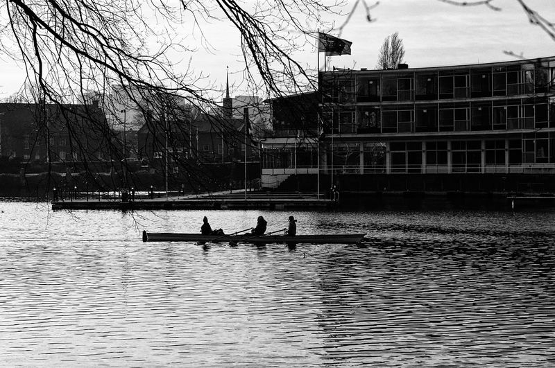 Building Exterior Architecture Built Structure Water Real People Transportation Nautical Vessel Waterfront Rowing Row Moving Amsterdam Nikon Streetphotography EyeEm Best Shots Blackandwhite Eye4photography