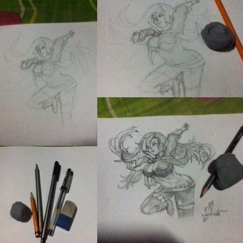 Katarina Themaking Nonstop Drawing LOL leagueoflegends