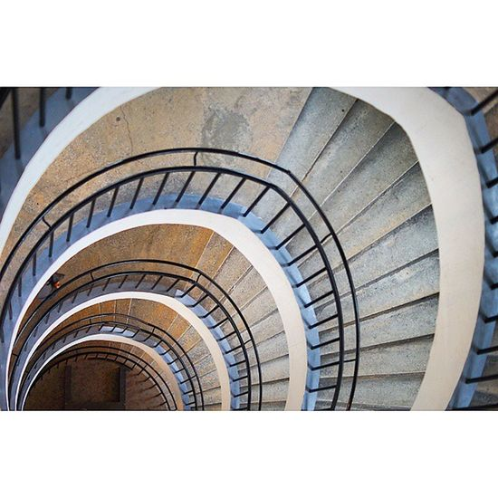 Abstract . Loop Staircase . at the DeutchesMuseum museum. Taken by MY SonyAlpha Dslr A57 . münchen Munich bayarn Bavaria Germany Deutschland. متحف درج ميونخ المانيا بافاريا