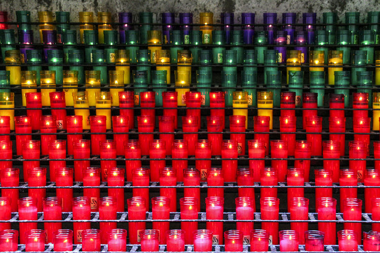 Candles 01 Abundance Arrangement Backgrounds Candles Collection Colored Candles Display Full Frame Green In A Row Large Group Of Objects Mediterranean Culture Mediterranean Lifestyle Multi Colored No People Purple Red Repetition Rithym Rows Side By Side Still Life Traditional Culture Variation Yellow