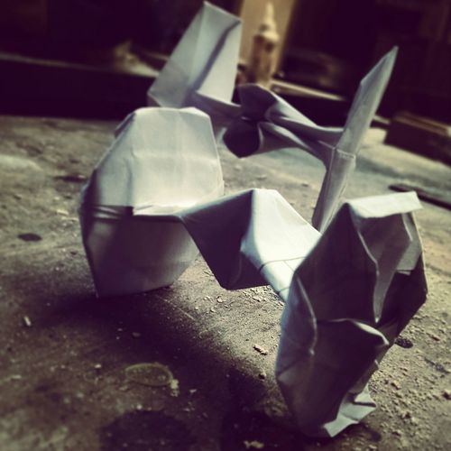TIE FIGHTERS! Origami Tiefighter (first attempt) Perspective Film Check This Out Streetphotography Supernormal Elperroartista EyeEm Best Shots Popular Photos Paper View