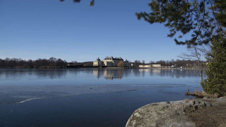 Drottningholm Palace Landscape Beauty In Nature Water Reflection Lake Nature Day Outdoors