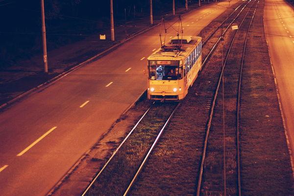 Railroad Track Transportation Rail Transportation Public Transportation Mode Of Transport Train - Vehicle No People Freight Transportation Night Outdoors City VSCO Russia ижевск