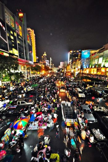The City Light Bangkok City Crowd On The Streets Street Photography