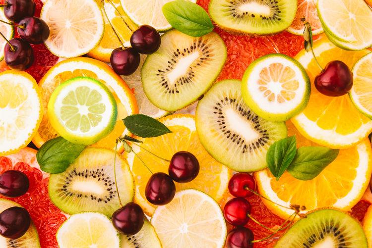 Full frame shot of fruits