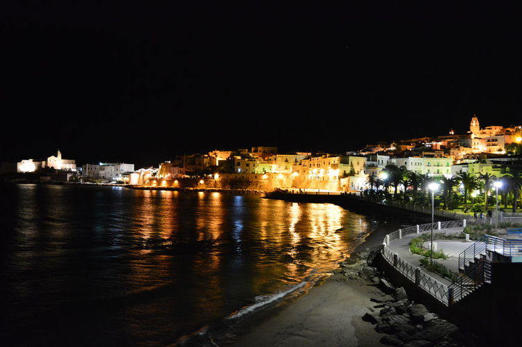 Night Nightphotography Summer Vieste By Night  Vieste Puglia