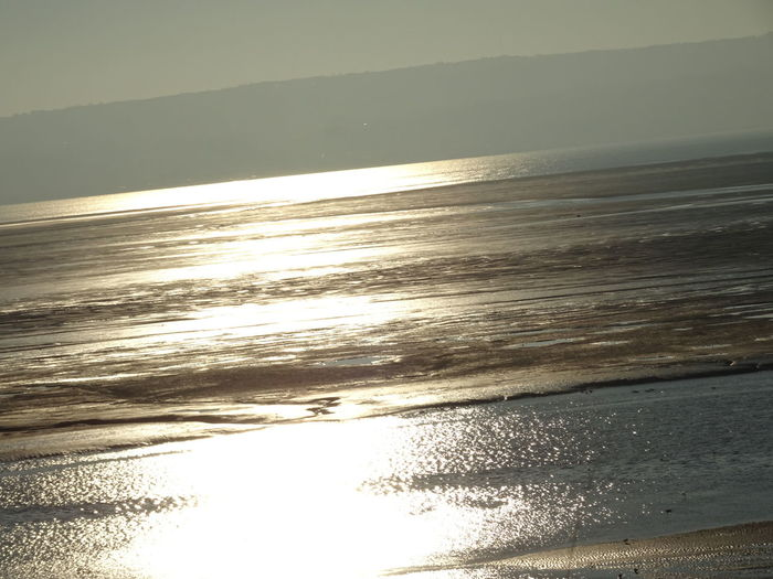 Tranquility Outdoors Dusk Estuary Wirral No People Beauty In Nature sun reflections Welsh hills in background beach