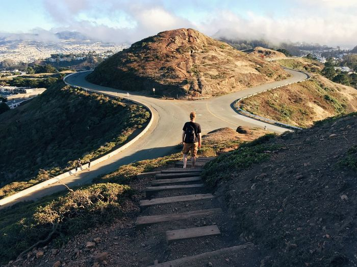 Exploring High Angle View Landscape Outdoors Perspective Road San Francisco Travel Travel Photography Twin Peaks Twin Peaks Viewpoint Feel The Journey Travel Destinations