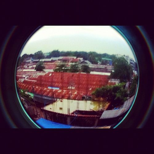 Fisheye Buzza Built Root raining cloudy weather