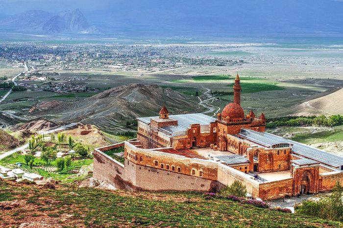 Aerial View Architecture Ağrı Building Exterior Built Structure City Cityscape Day Ishak Pasha Palace Nature No People Outdoors Sea Sky Travel Travel Destinations Türkiye Water