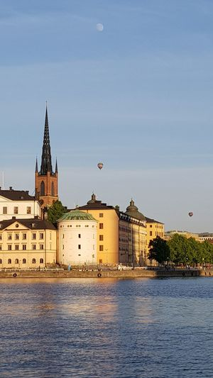 Stockholm, Sweden Architecture Building Built Structure City Hot Air Balloon Sky Water