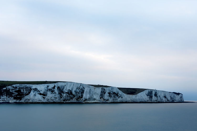 White Cliffs of Dover. Dover Dover, England England, UK United Kingdom Beauty In Nature Cloud - Sky Cold Temperature Day England Environment Horizon Landscape Nature No People Outdoors Scenics - Nature Sea Sky Tranquil Scene Tranquility Urban Skyline Water Waterfront White Cliffs  White Cliffs Of Dover