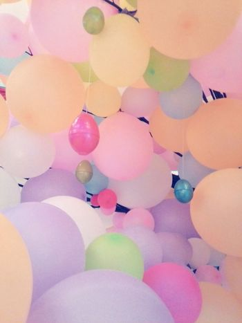 Easter Eggs Balloons Pastel Colors Pink