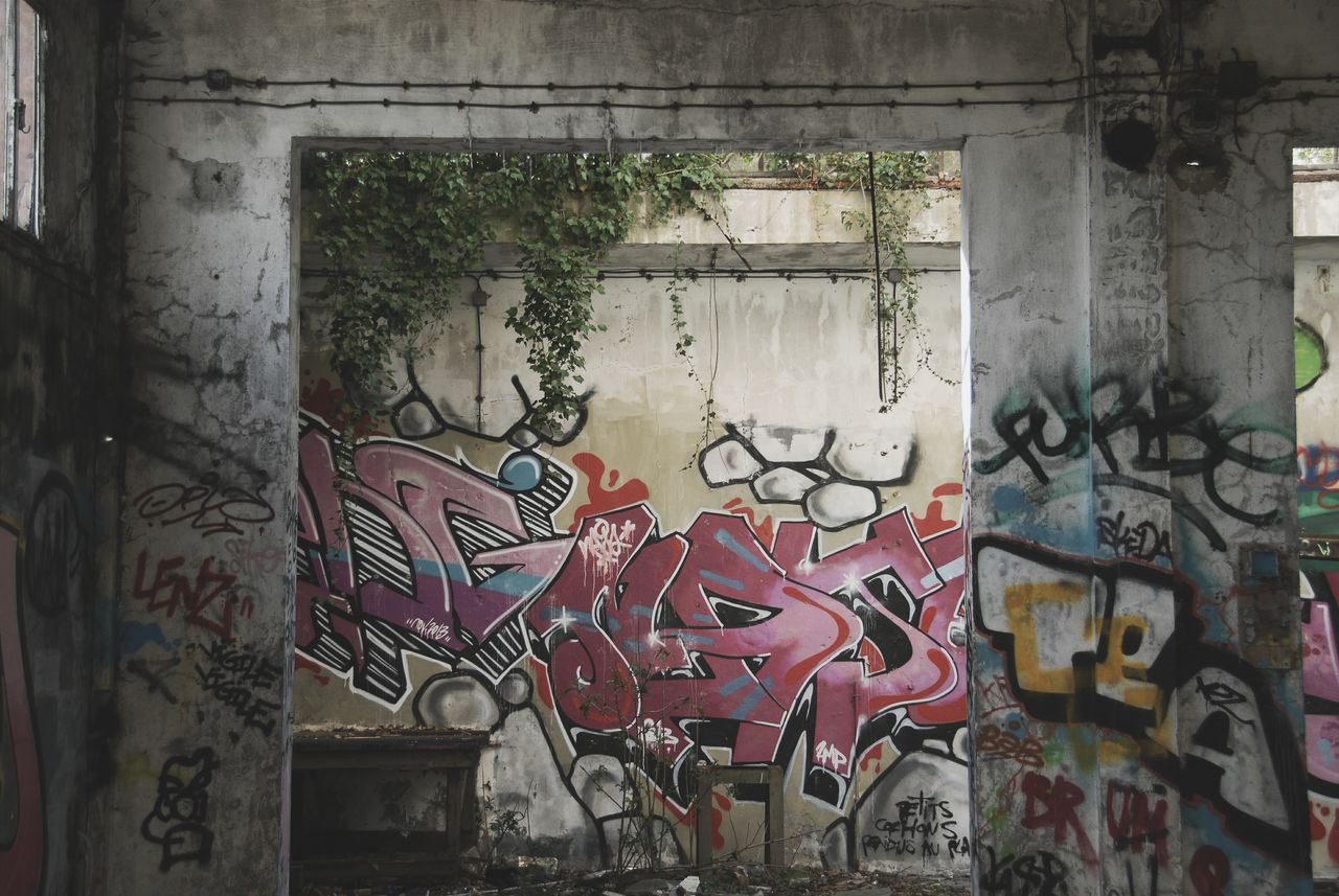 graffiti, art and craft, creativity, built structure, no people, street art, window, day, architecture, outdoors, close-up, building exterior