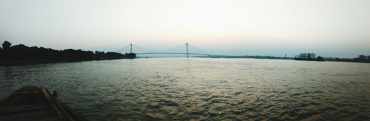 Bridge - Man Made Structure Travel Destinations Tourism Suspension Bridge Fog Scenics Travel Vacations Beach Landscape Tranquility City Architecture River Night Built Structure Sky Sunset Water Outdoors Hoogly_Bridge Hoogly River No People Kolkata
