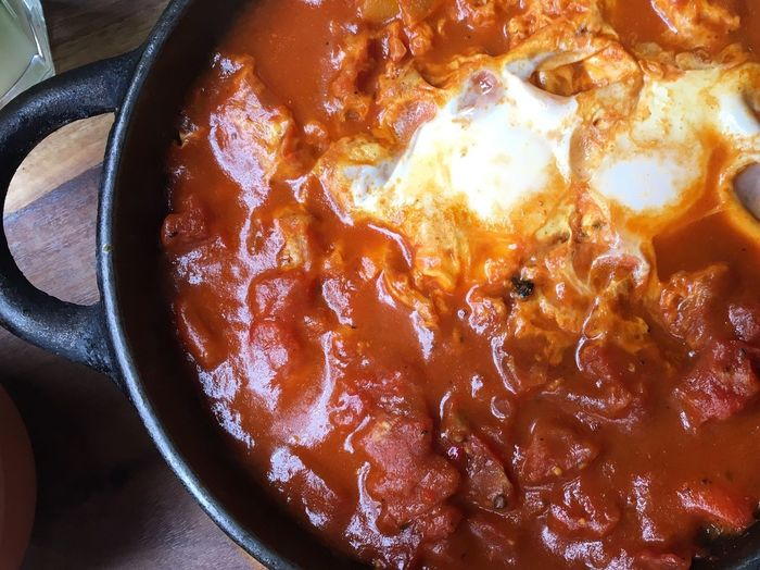 Shakshuka Tomato Egg Spicy Food Skillet Food Meal Soulfood Lunch No People Brunch