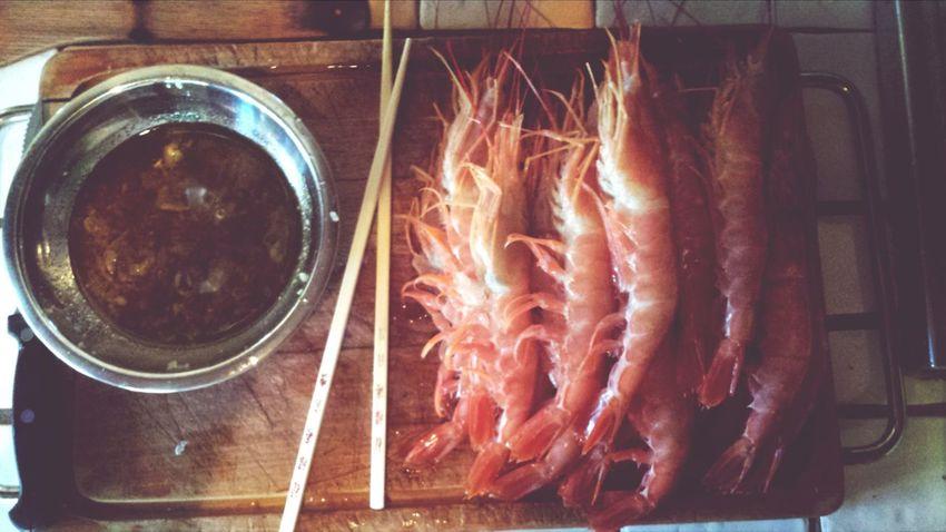Fresh Fresh Shrimps Enjoying A Meal Eyeem Food  Getting Inspired