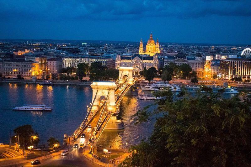 Budapest by night First Eyeem Photo Chainbridgebudapest river Duna ship night seightseen