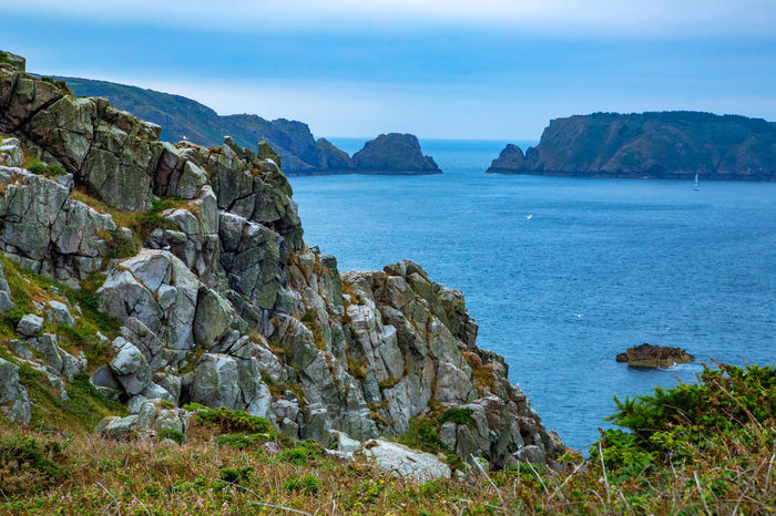 English Channel Eperquerie Isle Of Sark Beauty In Nature Cliff Day Island Mountain Nature No People Outdoors Rock - Object Rock Formation Sark Scenics Sea Sky Tranquil Scene Tranquility Water
