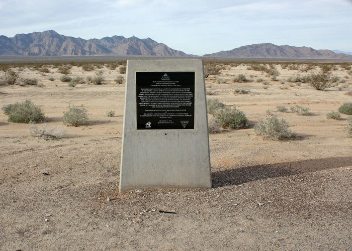Desert General Patton George Patton Iron Mountain Road Arid Climate Army Day Desert Infantry Infantry Camp Landscape Monument Mountain Nature No People Outdoors Patton Scenics Sky Training Camp
