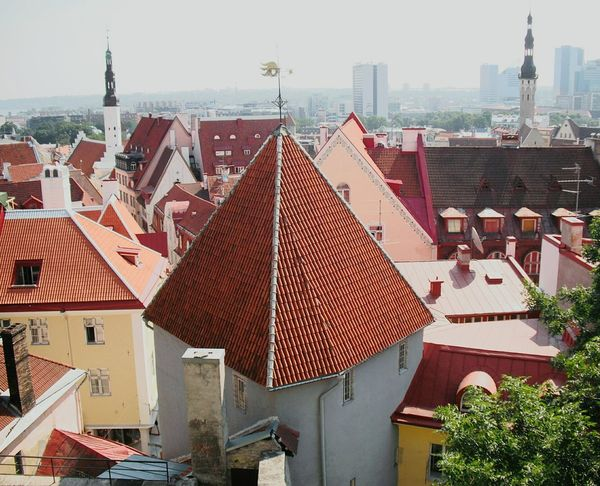 Oldworldcharm Cityview Rooftops Peaked Rooftop Tallinn Estonia Slanted Angles Claytiles Roofing Old Buildings Seeing The Sights