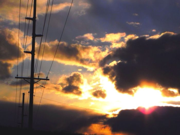 Light Up Your Life Sun Power Lines Clouds