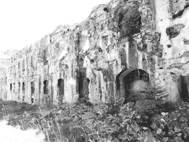 Old Ruin Dangerous 1st World War Historic Trento, Italy