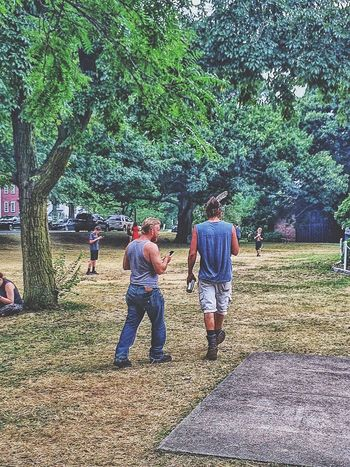 Pokemon Go Encampment...people watching. July Summertime Summer People Together HUMANITY Humans Outdoors Outside People Park Pokemon Hunting PokemonGo Pokémon Pokemon Go Academy Hill New England  USA Connecticut Stratford Looking Up Feather  Manbun People Together
